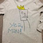 yeaMan t-shirt turquoise ティシャツ